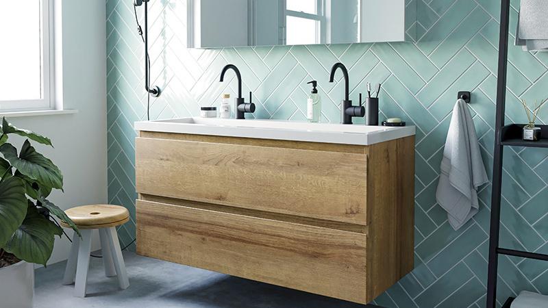 Pastel in de badkamer