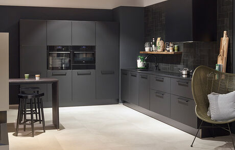 Keuken apparatuur zwart