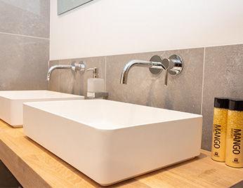 Badkamermeubels landelijk modern wood creations