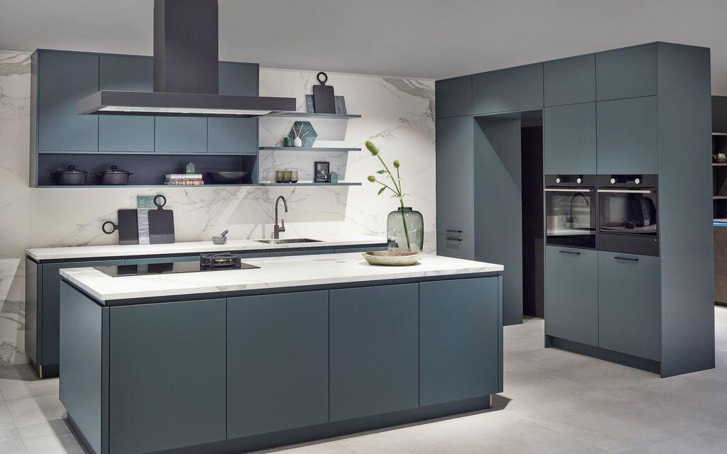 keuken blauw