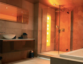 Sunshower design badkamer