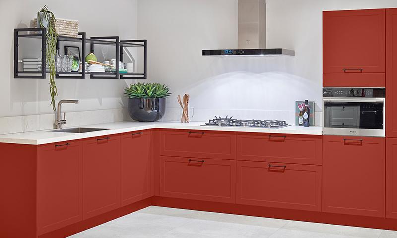 Rood integreren in jouw keuken