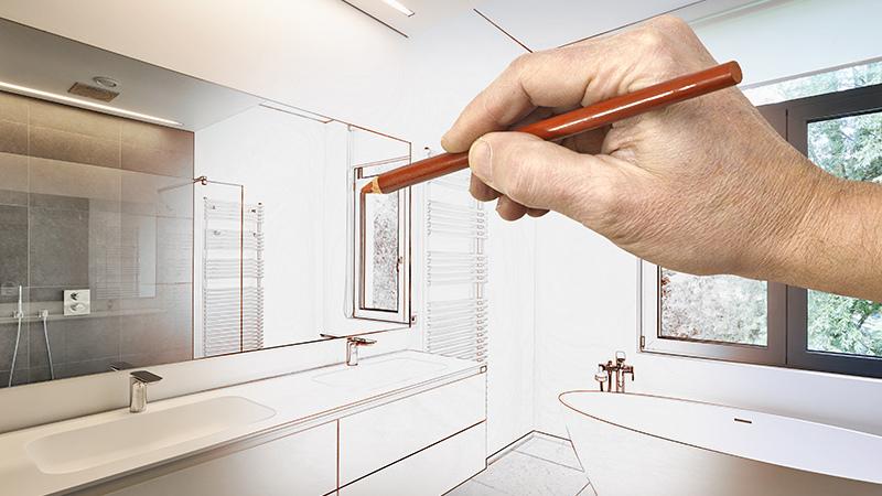 Ontwerp zelf je 3D badkamer