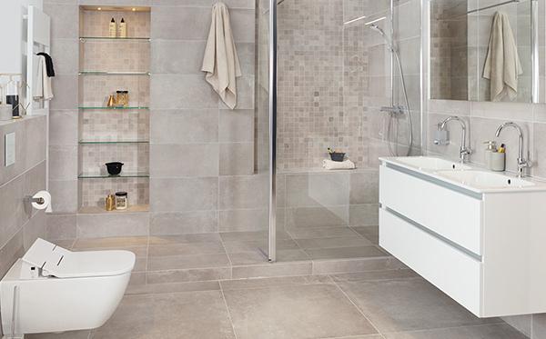 Badkamer met randloos toilet