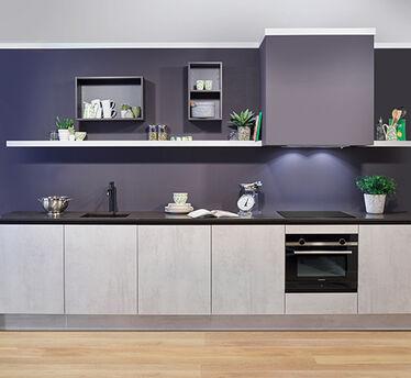 Betonnen keukenblad - Staalblauw