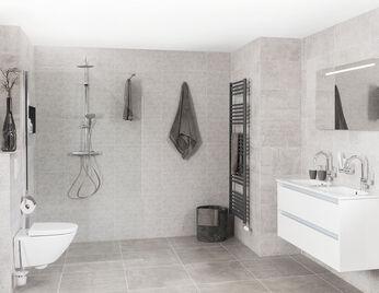 badkamer grijs-wit