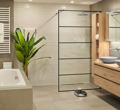 Beige badkamer
