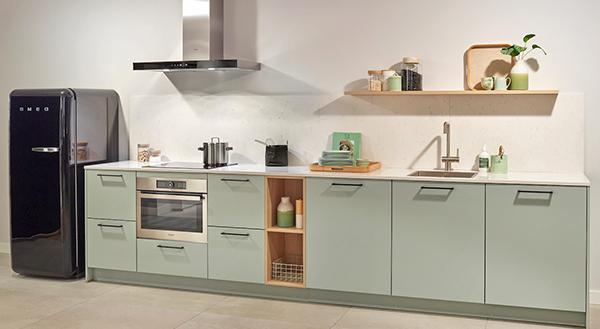 Mintgroene pasteltint keuken