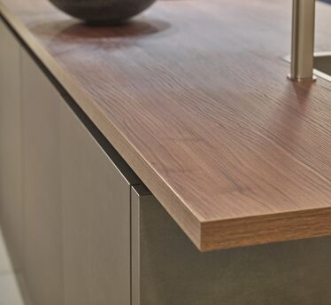 houten werkblad iroco