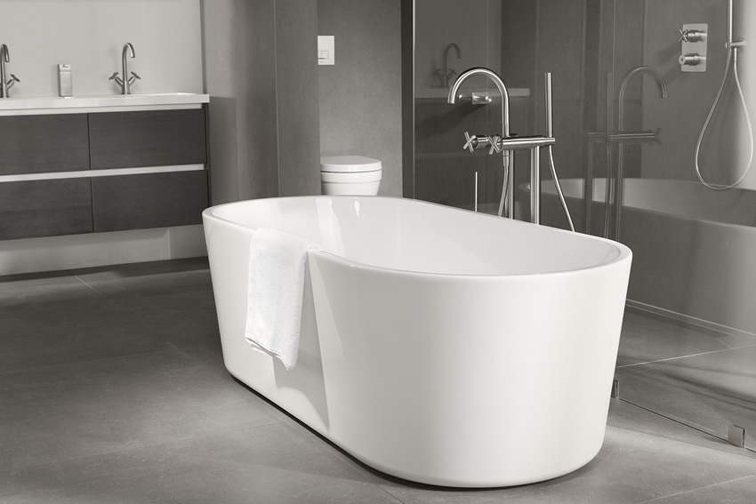 Badkamer Indeling Tips : Een vrijstaand bad als blikvanger in je badkamer